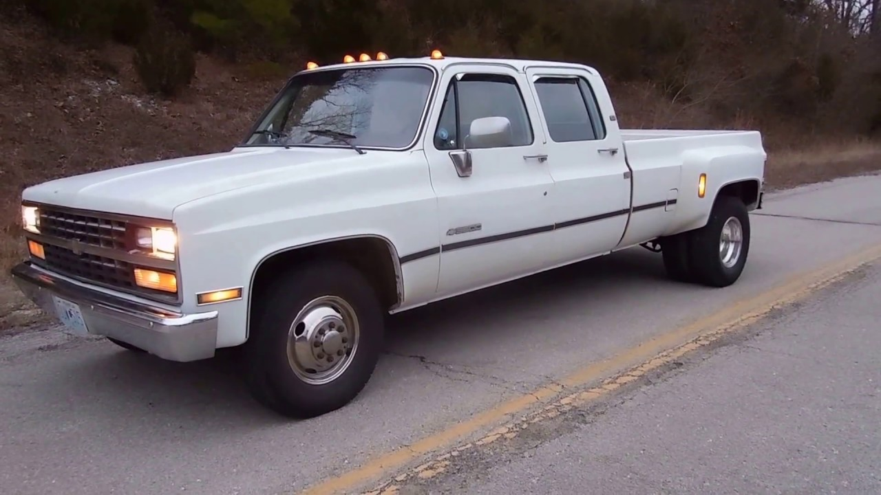 1989 Chevrolet R3500 1 Ton Crew Cab Dually Start Up