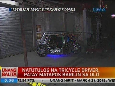 Natutulog na tricycle driver, patay matapos barilin sa ulo