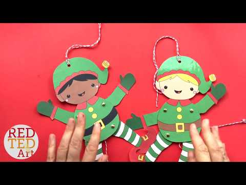 Easy Elf Paper Puppet Template
