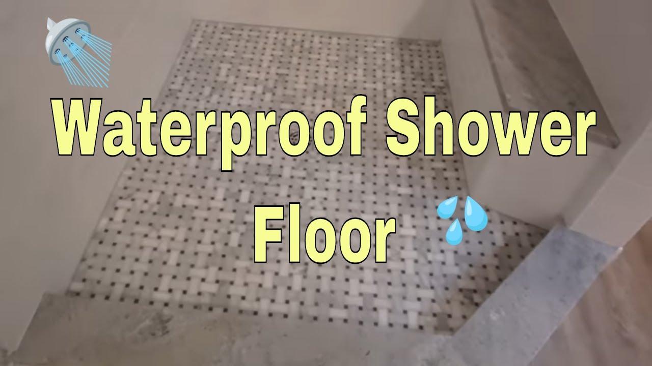 waterproof a shower floor