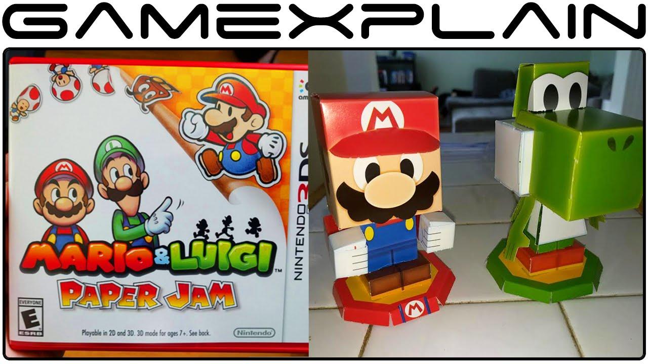 Papercraft Mario & Luigi: Paper Jam UNBOXING + Bonus Papercraft Assembly