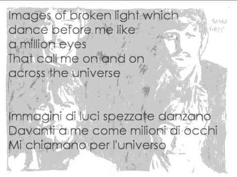 Beatles Cover - Across the universe with lyrics (testo + traduzione italiano)