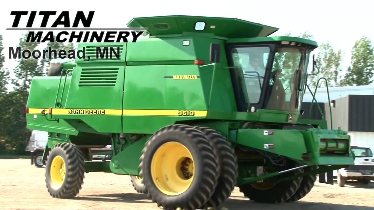 john deere 9610 combine sold on els youtube. Black Bedroom Furniture Sets. Home Design Ideas