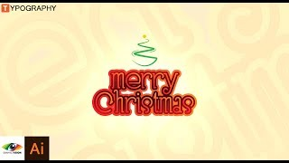 Adobe Illustrator | Christmas text design using font only.