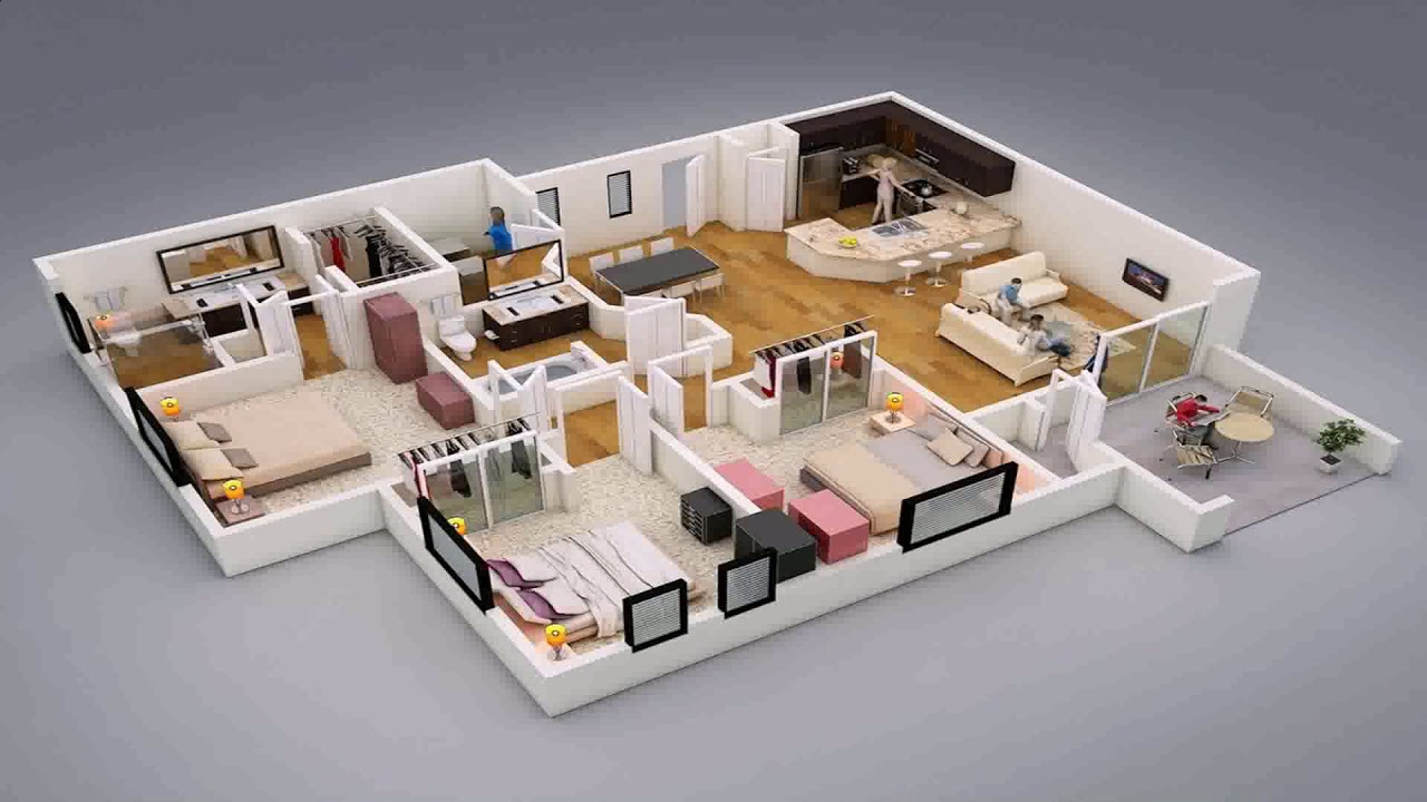 Three Bedroom House Design And Plan