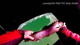 Must see: Winter trout site fishing in South Dakota USA. Рыбалка на форель в Америке.