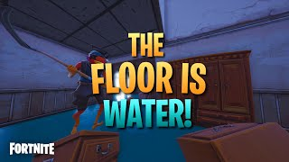 How To Walk On Water In Fortnite Creative The Floor Is Water Fortnite Creative Map Code Dropnite