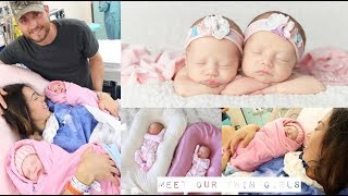 MEET OUR TWIN GIRLS! NAME REVEAL AND FIRST WEEK HOME!👼🏻👼🏻 -SLMissGlamvlogs💕