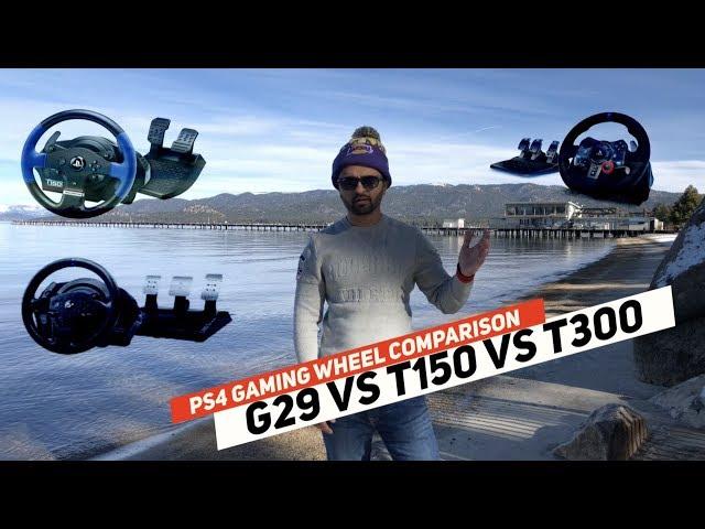 Thrustmaster T150 vs Thrustmaster T300 vs Logitech G29 - YouTube