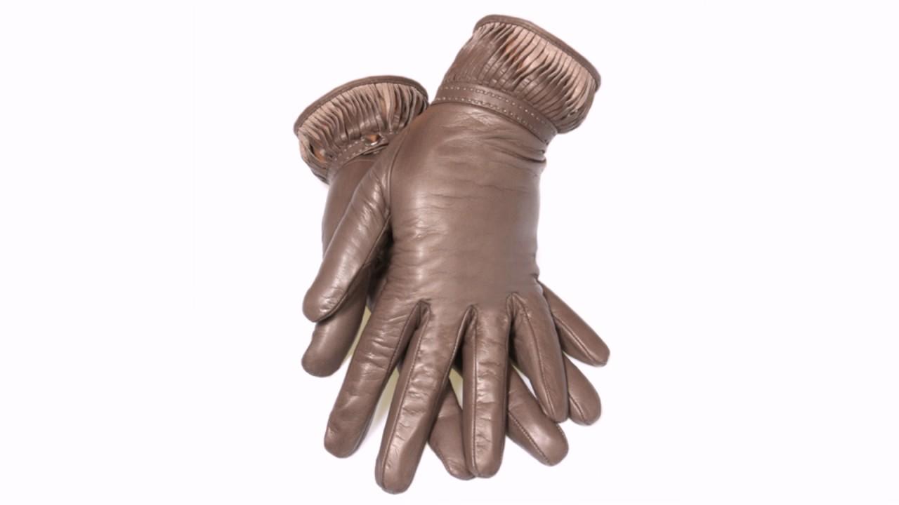 Женские перчатки из натуральной w008 - YouTube