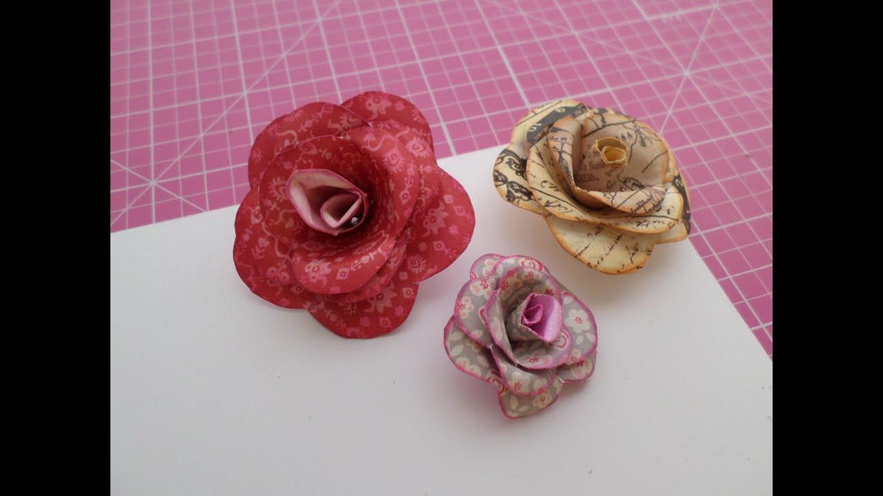 Como hacer flores de papel scrapbook youtube - Como hacer flores ...