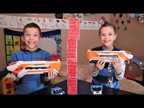 [YouTube Challenge]  Twin Telepathy Challenge Nerf Edition (2019)