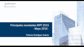 Principales novedades IRPF 2015