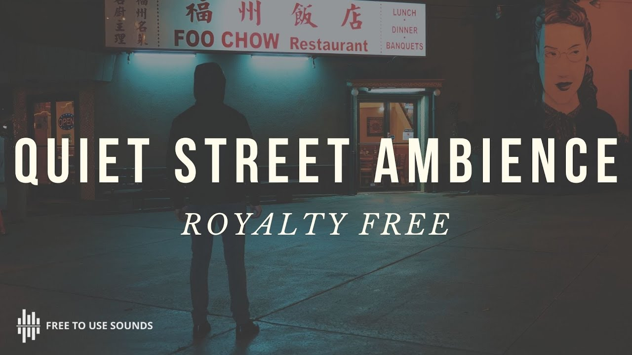 FREE QUIET STREET AMBIENCE SOUND EFFECTS LOS ANGELES - TRAFFIC BACKGROUND  SOUND EFFECTS