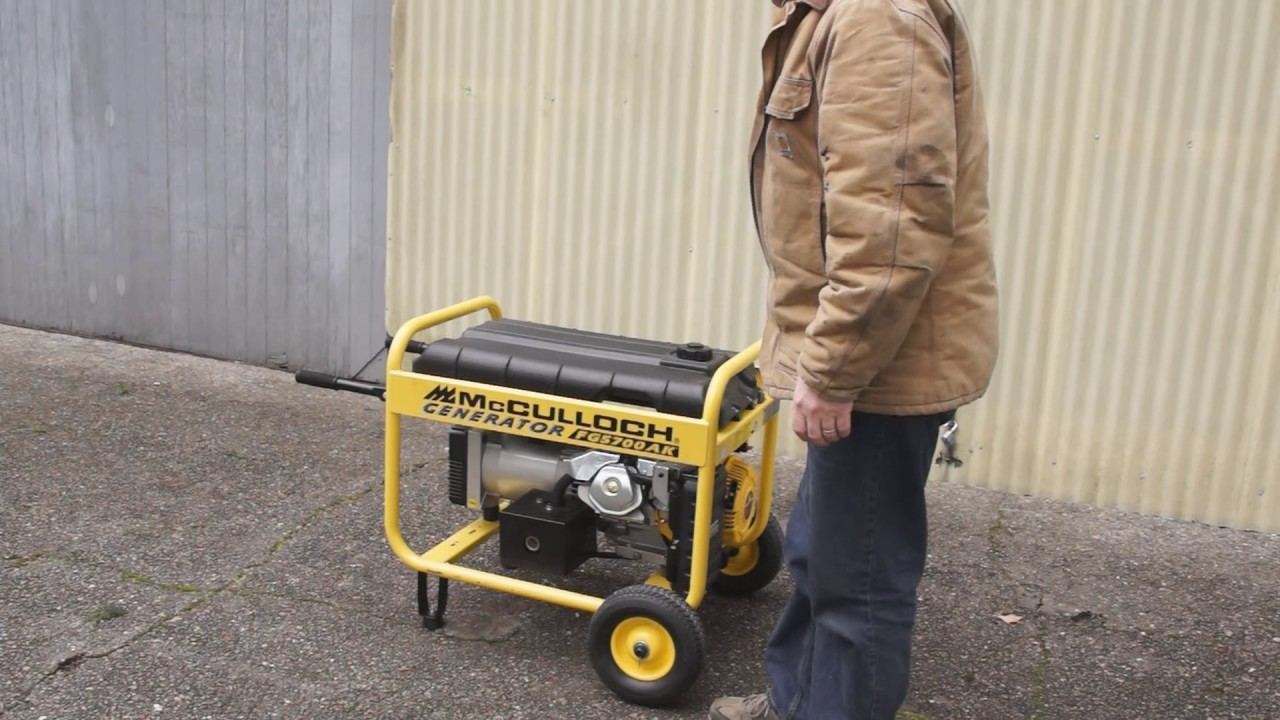 Mcculloch generator fg6000mk