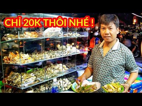 Quán ốc Siêu rẻ bèo chỉ 20k ăn tẹt gha không lo về giá bán thâu đêm ở Sài Gòn | Saigon Travel