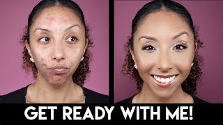 get ready with me trying new makeup biancareneetoday