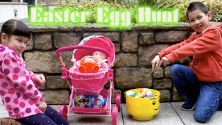 easter egg hunt giant kinder easter surprise egg unboxing family fun kids video  thechildhoodlife