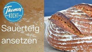 Sauerteig Rezept | Sauerteig selber herstellen und das erste Brot backen