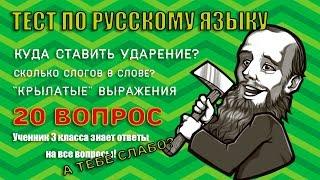 Тест по русскому языку | С этим тестом легко справится третьеклассник |тест на грамотность| Botanya
