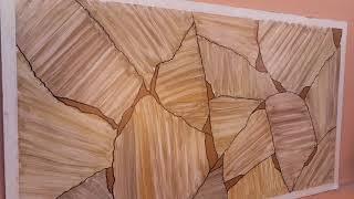 Pintura decorativa efeito pedra iregular!  Ofereço curso online! Contato Whats (11) 94719.4205