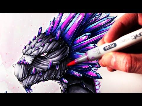 Let's Draw a GEMSTONE DRAGON - FANTASY ART FRIDAY