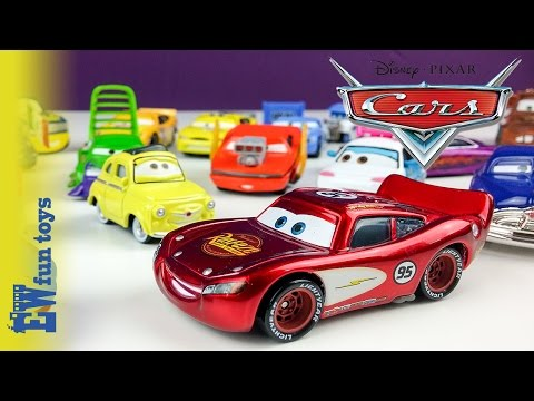 Disney Pixar Cars Diecast Toys Part 1 Mattel with Mcqueen Mater Guido Luige New カーズ 2015