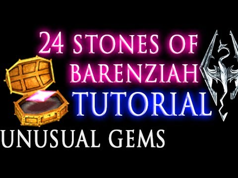 Skyrim: Stones of Barenziah (unusual gems) & No Stone Unturned quest