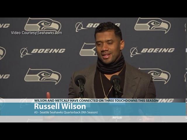 Russell Wilson on DK Metcalf Oops 2020-09-29