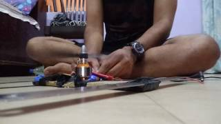 Brusshless motor 1000kv test.