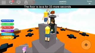 Playing The Soil Is Lava in Roblox - M'ary
