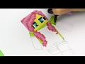 Fluttershy from My Little Pony Equestria Girls in Minecraft Style How to Draw Video for Kids