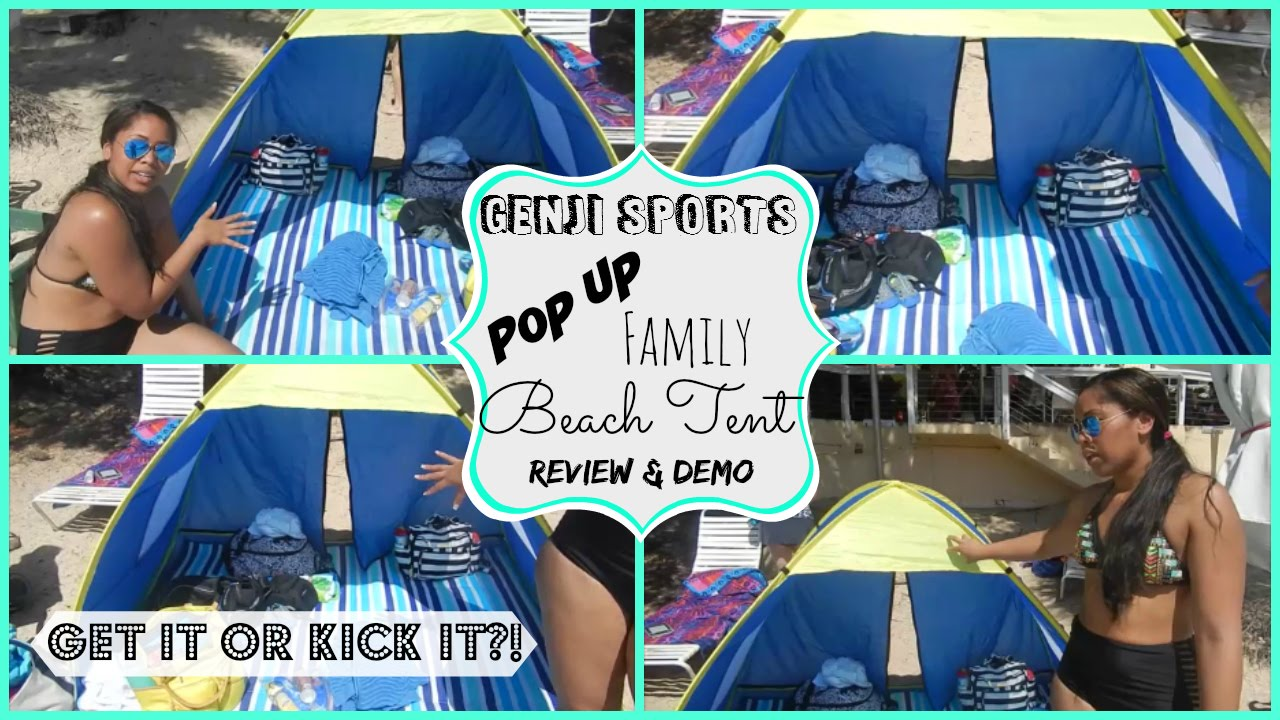 Genji Sports Pop Up Family Beach Tent ??Get it or kick it  sc 1 st  YouTube & Genji Sports Pop Up Family Beach Tent ??Get it or kick it - YouTube