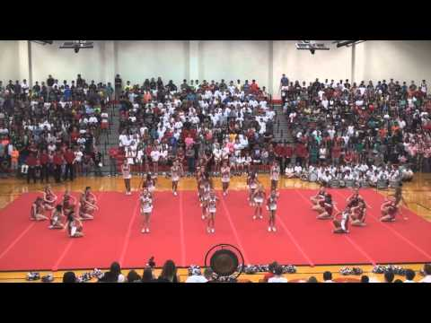 Coppell HS Cheer Aug 2014 Pep Rally