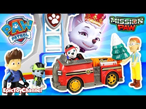 PAW PATROL Nickelodeon Mission Paw Sweetie The Robber Steals Christmas Tree from Paw Patrol Pups