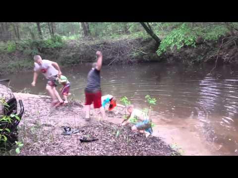 A little fun at Peach Creek.