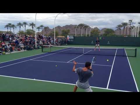 Juan Martin Del Potro Practice at Indian Wells 3-10-18