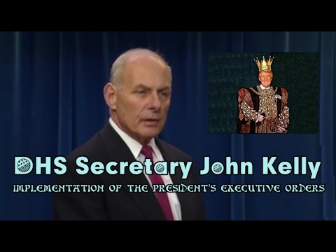 USA w/CC: 2-1-17. DHS Kelly Press Briefing on Trump's New Ex