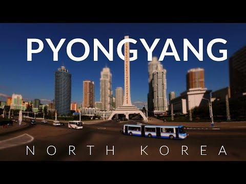 Pecuilar Pyongyang - North Korea (DPRK) 4k -Time lapse -Tilt- shift