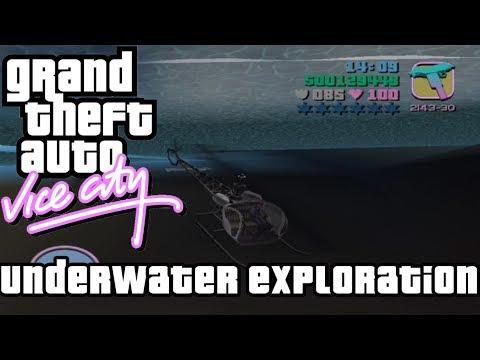 Grand Theft Auto Vice City | Underwater Exploration | MattJ155