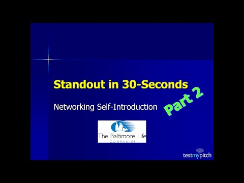 Standout in 30-Seconds-Part 2 webinar for Baltimore Life Eastern Region Sales Team