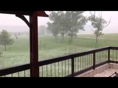 Hail storm on honeymoon