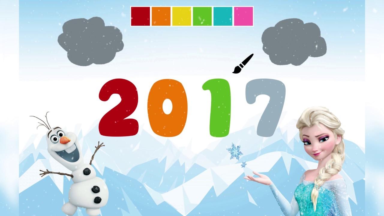 Boyama Kitabı Elsa Ve Olaf Ile Yeni Yıl 2017 Youtube