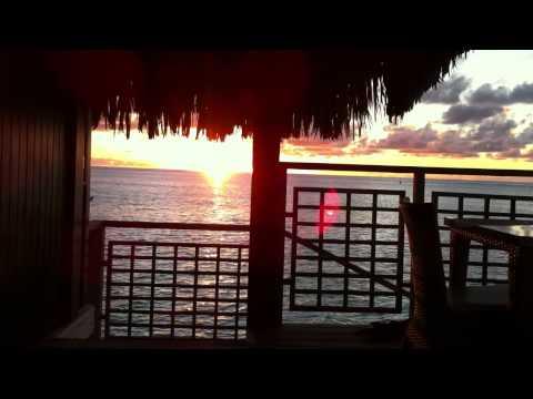 Sunset at Hilton Moorea