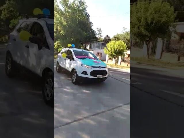 Caravana de los egresados del Santiago de Liniers
