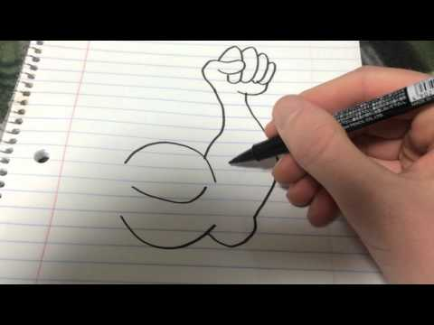 How to draw a strong arm with a lot of veins