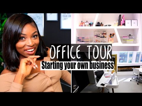 NEW OFFICE TOUR & WHAT I ACTUALLY DO FOR A JOB! & HOW TO START YOUR OWN BUSINESS ADVICE
