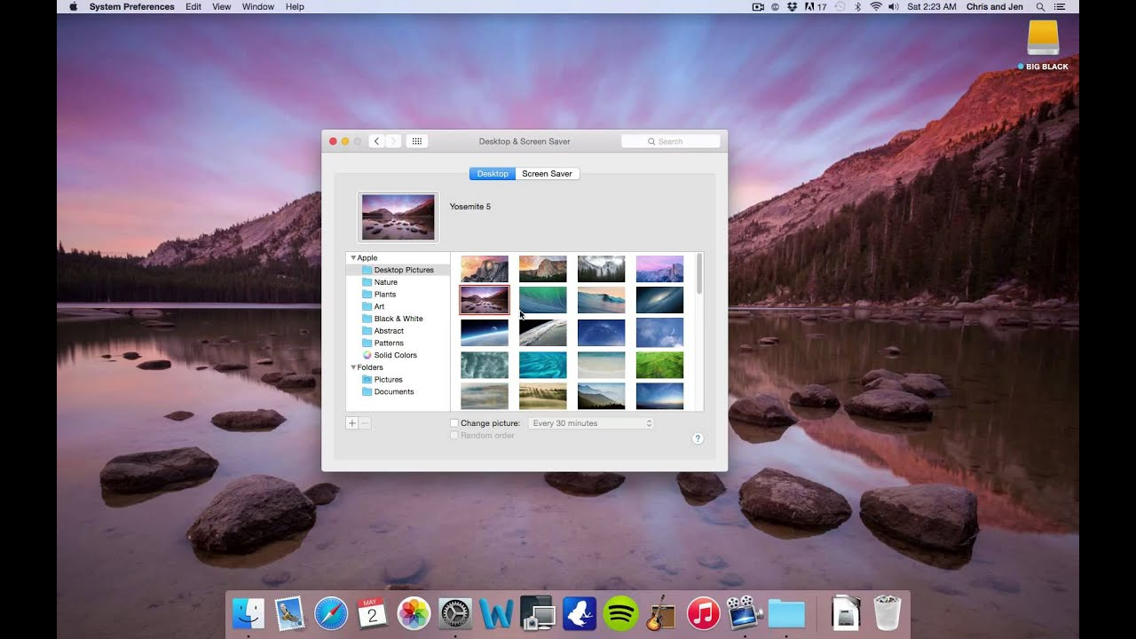 how to change your background on a mac youtube