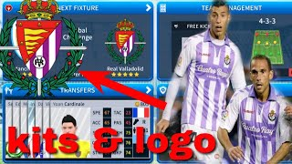 How To Create Real Valladolid Team Kits & Logo 2019 | Dream League Soccer 2019