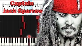 Джек Воробей. Музыка из фильма ♫ Пираты Карибского моря ♫ Ноты. Synthesia.